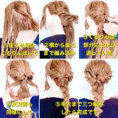 ダウンスタイル ヘアセット 三つ編み ロング ヘアスタイルや髪型の写真・画像