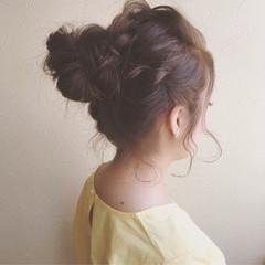 ヘアアレンジ ルーズ お団子 ガーリー ヘアスタイルや髪型の写真・画像