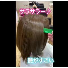 大人ロング 髪質改善カラー ナチュラル 髪質改善トリートメント ヘアスタイルや髪型の写真・画像