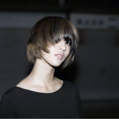 ストリート 黒髪 ボブ グラデーションカラー ヘアスタイルや髪型の写真・画像