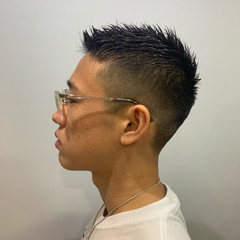 メンズ ベリーショート ストリート メンズヘア ヘアスタイルや髪型の写真・画像