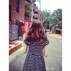巻き髪 モテ髪 ゆるふわ セミロング ヘアスタイルや髪型の写真・画像
