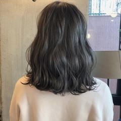 ヘアアレンジ ナチュラル 暗髪 ロブ ヘアスタイルや髪型の写真・画像