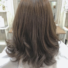透明感 デート セミロング オフィス ヘアスタイルや髪型の写真・画像