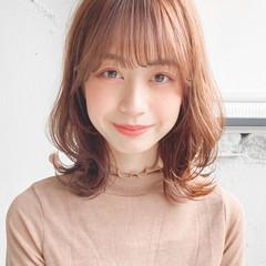 髪質改善 ミディアム 縮毛矯正 ナチュラル ヘアスタイルや髪型の写真・画像