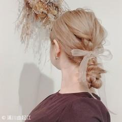 ロング ハイライト ヘアアレンジ ゆるふわ ヘアスタイルや髪型の写真・画像