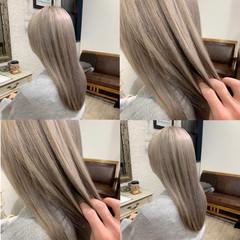 ハイトーンカラー ハイトーン ロング フェミニン ヘアスタイルや髪型の写真・画像