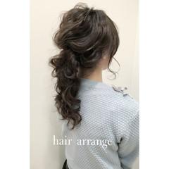 ヘアアレンジ ロング ブライダル ゆるふわ ヘアスタイルや髪型の写真・画像