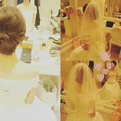 結婚式 ブライダル 大人かわいい ヘアアレンジ ヘアスタイルや髪型の写真・画像