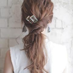 ショート パーティ セミロング ヘアアレンジ ヘアスタイルや髪型の写真・画像