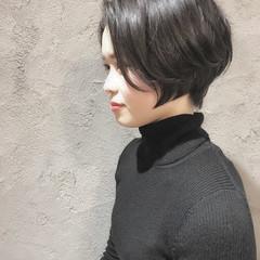 ナチュラル ショートボブ インナーカラー ショートヘア ヘアスタイルや髪型の写真・画像