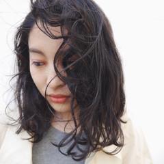 アッシュ 外国人風 ストリート ミディアム ヘアスタイルや髪型の写真・画像