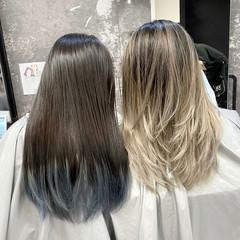 アッシュベージュ ナチュラル バレイヤージュ 外国人風カラー ヘアスタイルや髪型の写真・画像