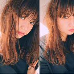 冬 黒髪 前髪あり パーマ ヘアスタイルや髪型の写真・画像