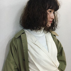 モード 大人女子 ラフ ストリート ヘアスタイルや髪型の写真・画像
