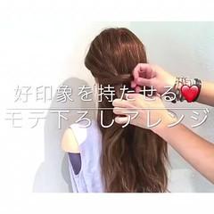 簡単ヘアアレンジ ヘアアレンジ 上品 色気 ヘアスタイルや髪型の写真・画像