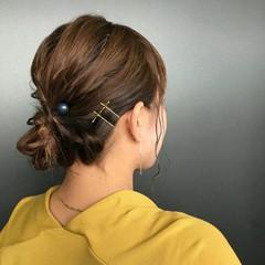 バレンタイン ゆるふわ 簡単ヘアアレンジ ガーリー ヘアスタイルや髪型の写真・画像