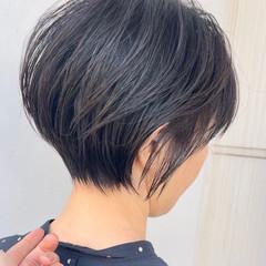 ショートカット ミニボブ ハンサムショート モード ヘアスタイルや髪型の写真・画像