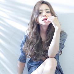 ロング 大人かわいい フェミニン 外国人風 ヘアスタイルや髪型の写真・画像