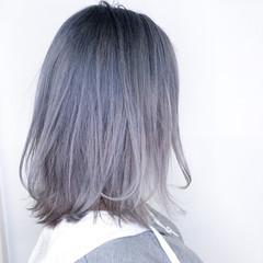 外国人風カラー 透明感カラー ストリート ホワイトアッシュ ヘアスタイルや髪型の写真・画像