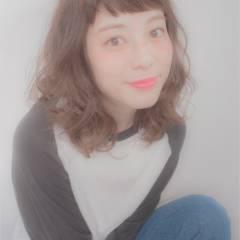 ミディアム ストリート 愛され モテ髪 ヘアスタイルや髪型の写真・画像