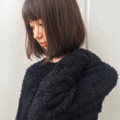 小顔 大人女子 ミディアム ガーリー ヘアスタイルや髪型の写真・画像