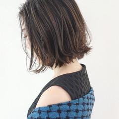 ボブ 女子力 ナチュラル 切りっぱなし ヘアスタイルや髪型の写真・画像