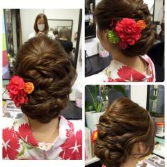 ヘアアレンジ ツイスト アップスタイル 和装 ヘアスタイルや髪型の写真・画像