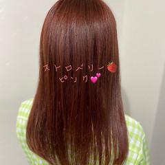 ブリーチカラー ブリーチオンカラー ロング ピンクベージュ ヘアスタイルや髪型の写真・画像