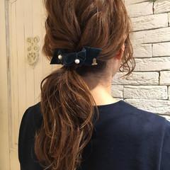 ヘアアレンジ セミロング 大人女子 ヘアスタイルや髪型の写真・画像