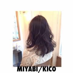 モテ髪 春 暗髪 ウェットヘア ヘアスタイルや髪型の写真・画像