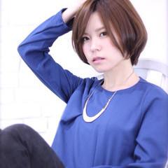 ショート コンサバ ナチュラル モテ髪 ヘアスタイルや髪型の写真・画像