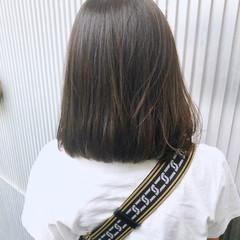 前髪あり アッシュ ストレート ミディアム ヘアスタイルや髪型の写真・画像
