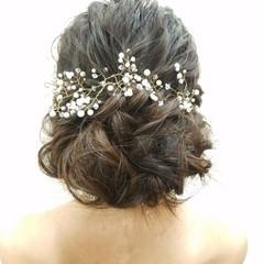 ゆるふわ ロング 結婚式 ブライダル ヘアスタイルや髪型の写真・画像