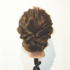 ショート ボブ 三つ編み ヘアアレンジ ヘアスタイルや髪型の写真・画像