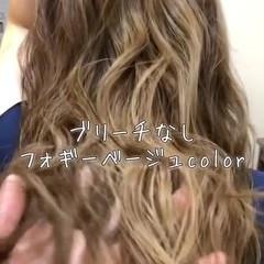 外国人風カラー ロング ヘアアレンジ エレガント ヘアスタイルや髪型の写真・画像