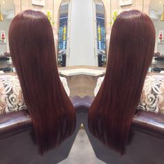 ピンク イルミナカラー 艶髪 トリートメント ヘアスタイルや髪型の写真・画像