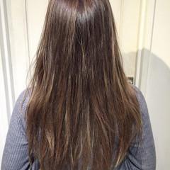 外国人風 アッシュ グラデーションカラー ロング ヘアスタイルや髪型の写真・画像