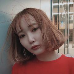 ガーリー 韓国風ヘアー ボブ 韓国ヘア ヘアスタイルや髪型の写真・画像