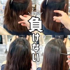 ストレート ブリーチなし グレージュ 縮毛矯正 ヘアスタイルや髪型の写真・画像