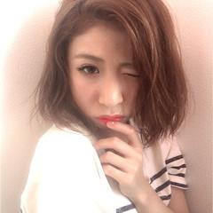 ボブ 前髪あり 外国人風 大人女子 ヘアスタイルや髪型の写真・画像