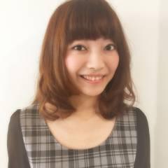モテ髪 コンサバ ミディアム フェミニン ヘアスタイルや髪型の写真・画像