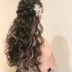 ヘアアレンジ ヘアセット フェミニン 結婚式 ヘアスタイルや髪型の写真・画像