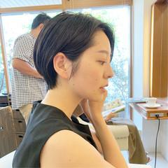 ショート 可愛い ナチュラル ヘアスタイルや髪型の写真・画像