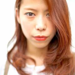 ゆるふわ セミロング ストレート グラデーションカラー ヘアスタイルや髪型の写真・画像