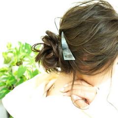 セミロング ヘアアレンジ 簡単ヘアアレンジ 大人女子 ヘアスタイルや髪型の写真・画像