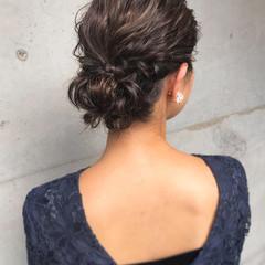 上品 アップスタイル 結婚式 エレガント ヘアスタイルや髪型の写真・画像