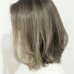 大人かわいい ハイライト ナチュラル ボブ ヘアスタイルや髪型の写真・画像
