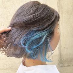 ボブ 外国人風カラー ストリート インナーカラー ヘアスタイルや髪型の写真・画像