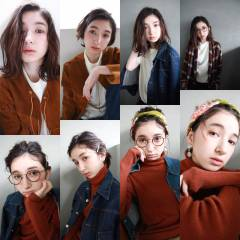 ミディアム 外国人風 ウェーブ 簡単ヘアアレンジ ヘアスタイルや髪型の写真・画像